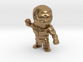Ninja-Small in Natural Brass