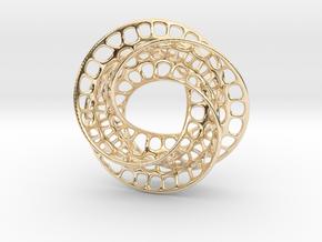 3 quarter twist Möbius strip in 14K Yellow Gold