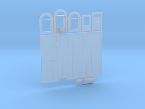 N-scale 1/160 Millie's Cafe Parts Combo in Smooth Fine Detail Plastic