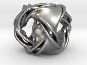 Cube ducov (no holes) in Natural Silver (Interlocking Parts)