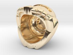 Prime Helmet in 14k Gold Plated Brass