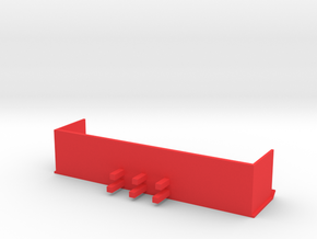 20 Foot Snow Pusher 1:50 Scale in Red Processed Versatile Plastic