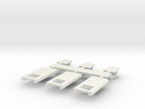 ZipperTopMk1 in White Natural Versatile Plastic
