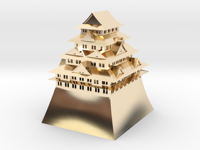Nagoya Castle in 14k Gold Plated Brass