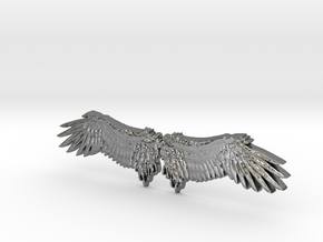 Angel's wing in Polished Silver