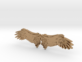 Angel's wing in Polished Brass