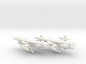 Hawker Hector (two airplanes set) 1/285 6mm in White Strong & Flexible