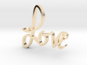 Love in 14K Yellow Gold