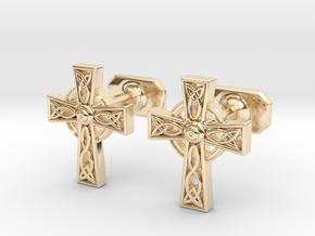 Celtic Cross Cufflinks in 14K Yellow Gold