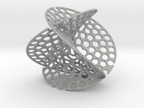 Henneberg surface irregular holes weave in Aluminum