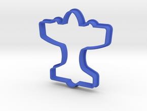 Airplane Cookie Cutter in Blue Processed Versatile Plastic