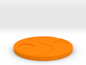 Tai Chi coasters in Orange Processed Versatile Plastic