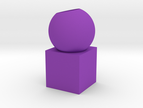 Pen holder in Purple Processed Versatile Plastic