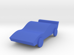 Sport Car in Blue Processed Versatile Plastic: Medium