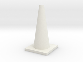 1/10 Scale Traffic Cone For RC  in White Natural Versatile Plastic