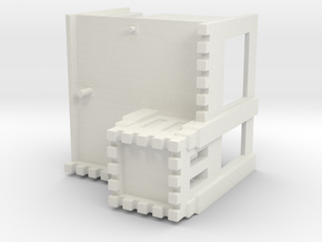 HO-Scale White Tower in White Natural Versatile Plastic