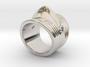 Couter Ring in Rhodium Plated Brass: 5.5 / 50.25