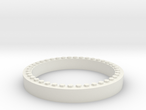 JConcepts Tribute Wheel Beadlock Ring for Monster  in White Strong & Flexible