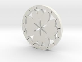 Lotus earring in White Natural Versatile Plastic
