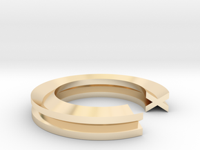 X Ring in 14K Yellow Gold: 4 / 46.5