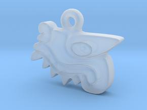 Aztec Crocodile Pendant in Smooth Fine Detail Plastic