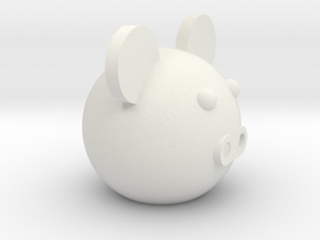 Round ball pig in White Natural Versatile Plastic