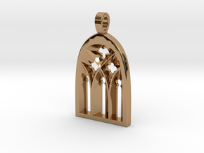 Cathedral Pendant in Polished Brass