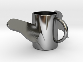 butterfly mug .stl in Fine Detail Polished Silver