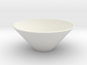 bowl.stl in White Strong & Flexible