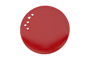 Serving dish in Gloss Red Porcelain