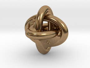 Unusual twisted D8 (rings) in Natural Brass: Extra Small