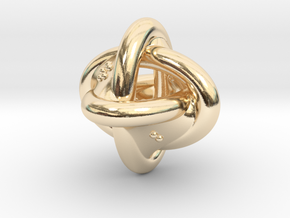 Unusual twisted D8 (rings) in 14K Yellow Gold: Extra Small