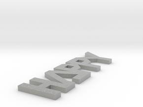 Modeling paperweight in Metallic Plastic