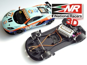 3D chassis - Super Slot Mclaren MP4 (Combo) in Black Strong & Flexible
