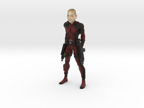 Deadpool with your face 100mm in Full Color Sandstone
