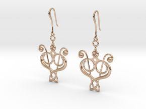 N. 4 in 14k Rose Gold Plated Brass