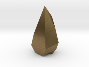Low poly Crystal in Natural Bronze