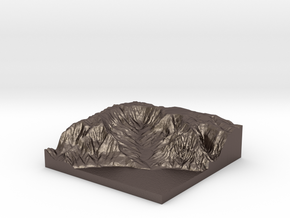 Kalalau Valley 1:43,000 in Polished Bronzed Silver Steel