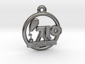 710 OIL Rig Pendant 001 in Polished Nickel Steel