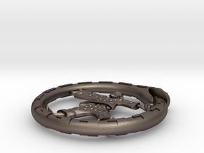 WestWorld CrazyBot pendant in Polished Bronzed Silver Steel