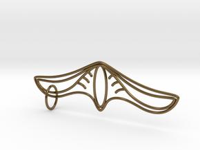 K Pendant in Interlocking Polished Bronze