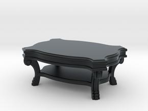 Coffee Table Victorian V1 in Black Hi-Def Acrylate