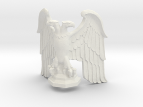 Eagle: Corner Statue with Base v1 in White Natural Versatile Plastic