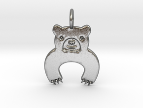Bear Pendant in Natural Silver