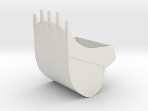 LT Liebherr Excavator Bucket in White Natural Versatile Plastic