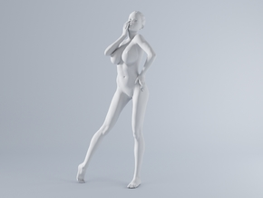 Mini Sexy Woman 010 1/64 in Frosted Ultra Detail: 1:64 - S
