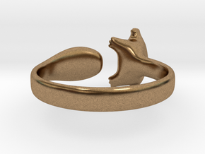 Cat Ring 1 in Natural Brass: Small