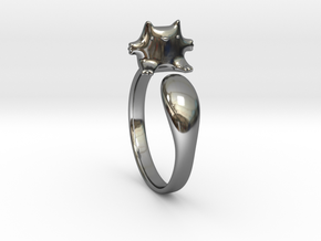 Cat Ring 1 in Fine Detail Polished Silver: Medium