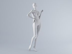 Mini Sexy Woman 022 1/64 in Frosted Ultra Detail: 1:64 - S