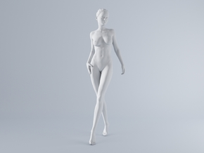 Mini Sexy Woman 039 1/64 in Smooth Fine Detail Plastic: 1:64 - S